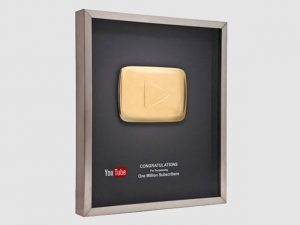Placa de Ouro Youtube