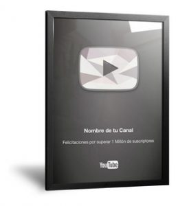 Placa de Diamante YouTube