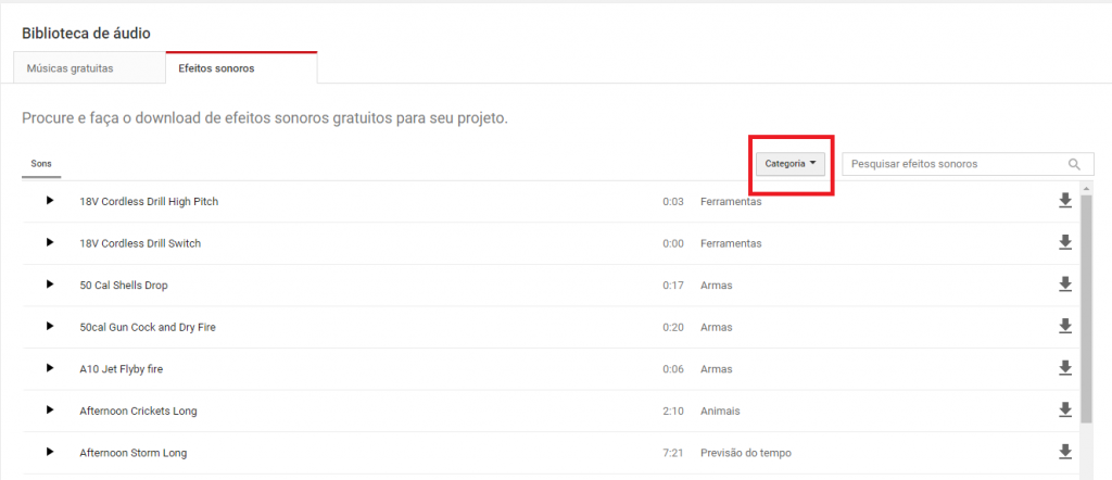 Como usar o Audio Library do YouTube